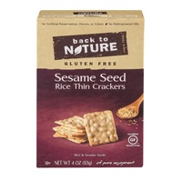 Back to Nature Gluten Free Sesame Seed Rice Thin Crackers