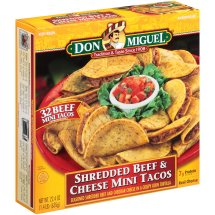 Don Miguel® Shredded Beef & Cheese Mini Tacos 32 ct Box