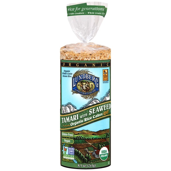 Lundberg Family Farms OG Tamari With Seaweed Rice Cake Organic Rice Cakes