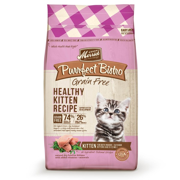 Merrick Purrfect Bistro Grain Free Healthy Kitten Food 7 Lbs.