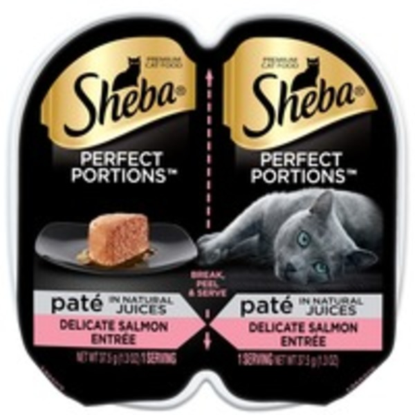 Sheba Perfect Portions Paté Delicate Salmon Entrée Premium Cat Food