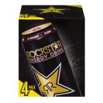 Rockstar Energy Drink 16 Fluid Ounce, 4 Pack Aluminum Can