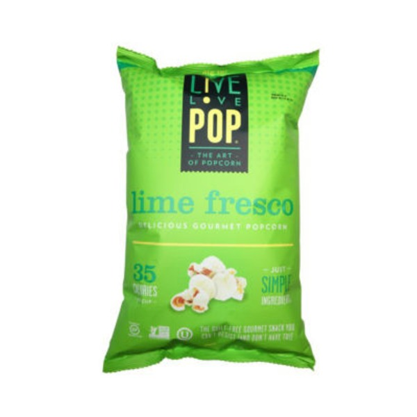 Live Love Pop Lime Fresco All-Natural Popcorn