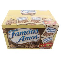 Famous Amos Bite Size Chocolate Chip Cookies Snack Pouches