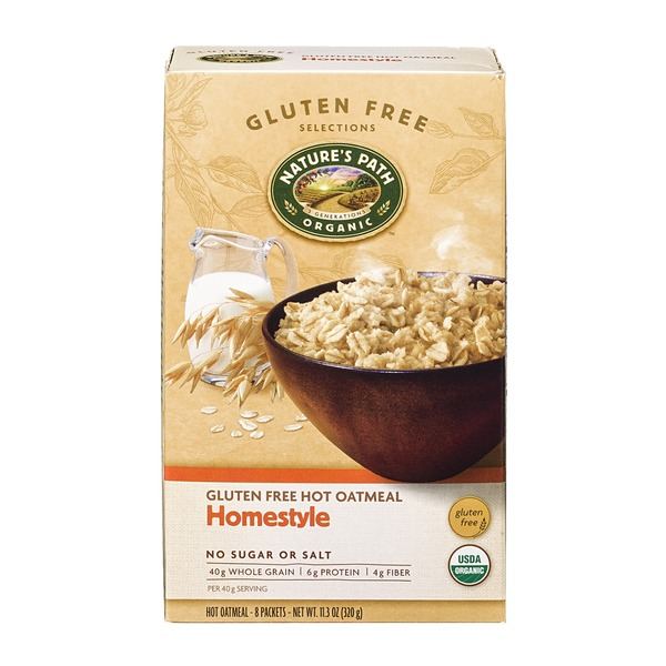 Nature's Path Gluten Free Hot Oatmeal Homestyle - 8 CT