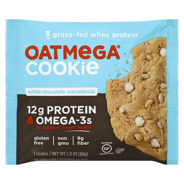 Oatmega Cookie, White Chocolate Macadamia