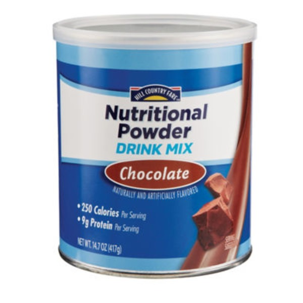 Hill Country Fare Chocolate Nutritional Powder Drink Mix