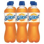 Diet Sunkist Orange Soda, 0.5 L, 6 pack