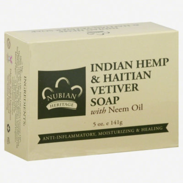 Nubian Heritage Soap, Indian Hemp & Haitian Vetiver, with Neem Oil