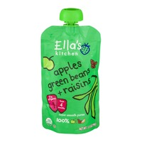 Ella's Kitchen Super Smooth Puree From 4 Months Apples, Green Beans + Raisins