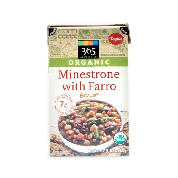 365 Organic Minestrone With Farro Soup