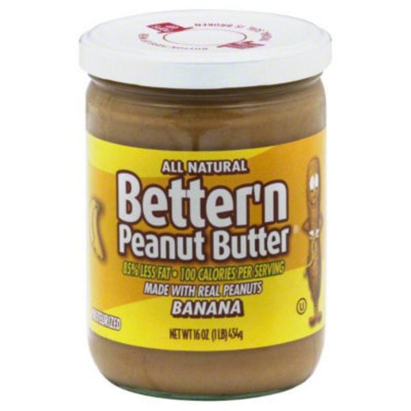 Bettern Peanut Butter, All Natural, Banana, Jar