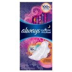 Always Radiant Pads with Wings, Scented, 11 Count