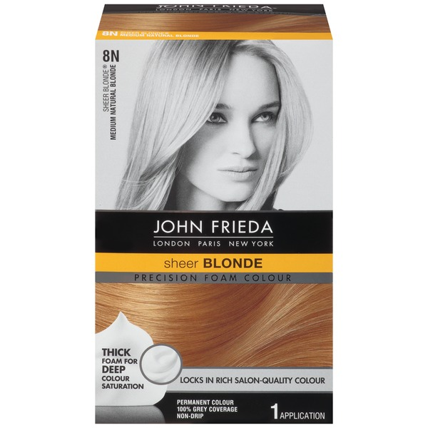 John Frieda Hair Color Sheer Blonde Medium Natural Blonde 8N Precision Foam Colour
