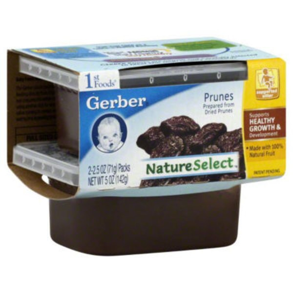 Gerber 1 St Foods Prunes Purees-Fruit