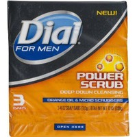 Dial For Men Power Scrub with Orange Oil & Micro Scrubbers Soap