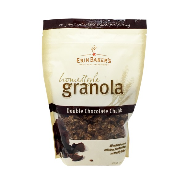 Erin Baker's Granola, Homestyle, Double Chocolate Chunk