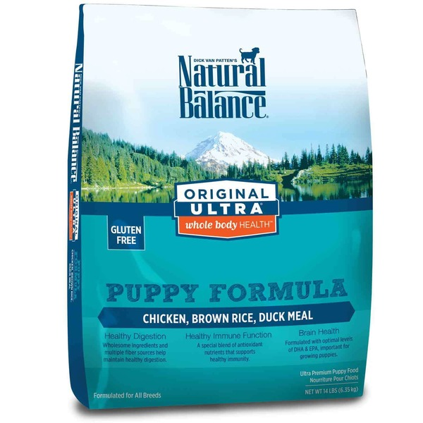 Dick Van Patten's Natural Balance Original Ultra Whole Body Health Puppy Formula Chicken, Brown Rice & Duck Meal
