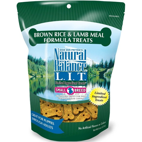 Natural Balance L.I.T. Limited Ingredient Treats Brown Rice & Lamb Meal Formula Small Breed Dog Treat