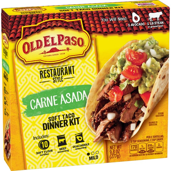 Old El Paso Restaurant Style Carne Asada Soft Taco Dinner Kit