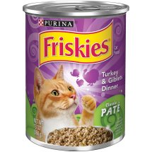 Purina Friskies Classic Pate Turkey & Giblets Dinner Cat Food 13 oz. Can