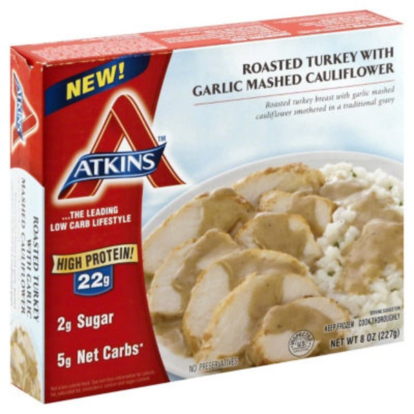 Atkins Roasted Turkey With Garlic Mashed Cauliflower
