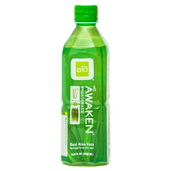 Alo Awaken Aloe + Wheatgrass Drink