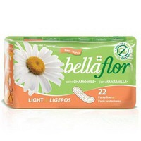 Bella Flore Panty Liners, Light, with Chamomile