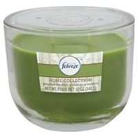 Febreze Scented Candle, Geranium Bamboo, Home Collection, Jar