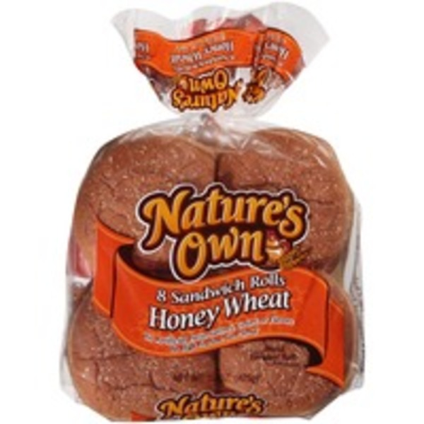Nature's Own Honey Wheat Sandwich Rolls
