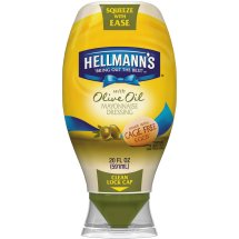 Hellmann's with Olive Oil Squeeze Mayonnaise Dressing 20 oz