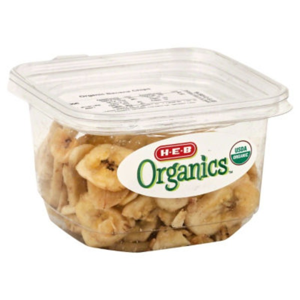 H-E-B Sweetened Organics Banana Chips