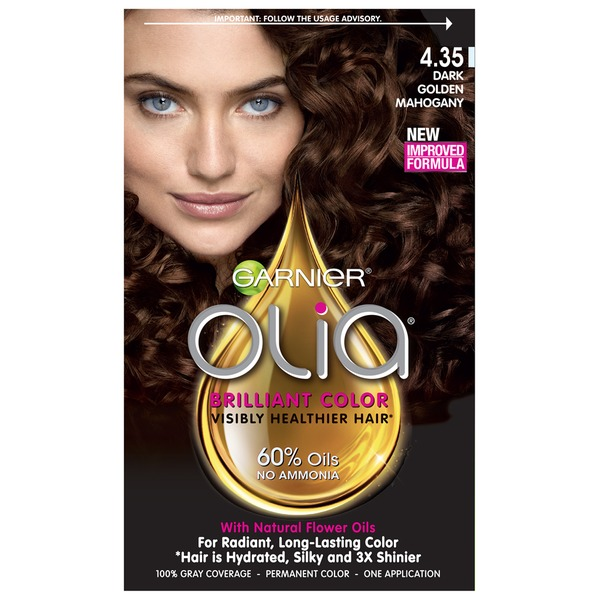 Olia™ 4.35 Dark Golden Mahogany Oil Powered Permanent Color