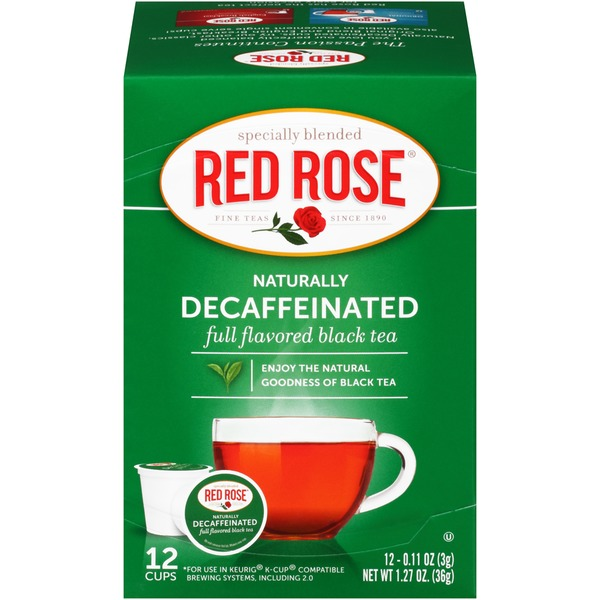 Red Rose Naturally Decaffeinated Black Tea