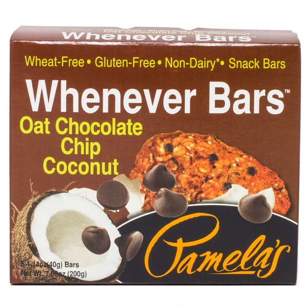 Pamela's Whenever Bars Oat Chocolate Chip Coconut - 5 CT