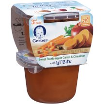Gerber 3rd Foods Lil' Bits Sweet Potato Apple Carrot Cinnamon, 5 Ounce,