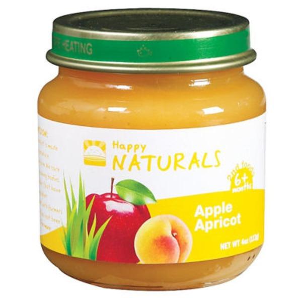 Happy Naturals 2nd Foods Apple Apricot