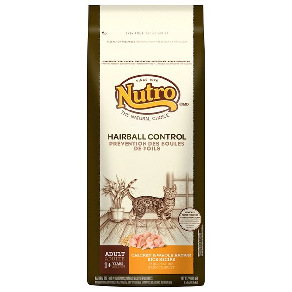 Nutro Hairball Control Adult Chicken & Whole Brown Rice Recipe Dry Cat Food