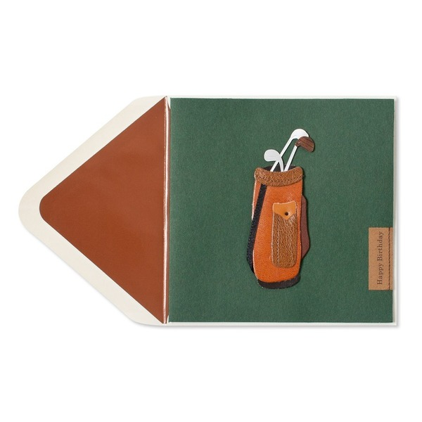 Papyrus Golf Bag Happy Birthday Card