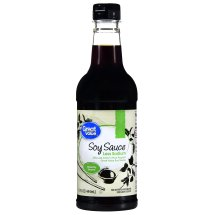 Great Value Soy Sauce, Less Sodium, 15 fl oz