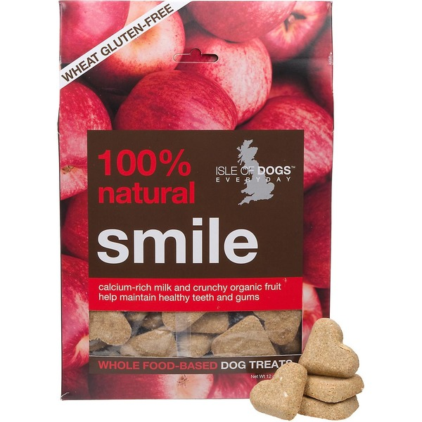 Isle of Dogs Whole Food-Based Treats, Smile, with Organic Apples + Milk Proteins