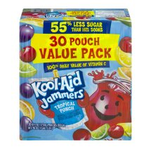 Kool-Aid Jammers Value Pack, Tropical Punch, 6 Fl Oz, 30 Count