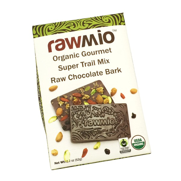 Rawmio Trail Mix Raw Chocolate Bark