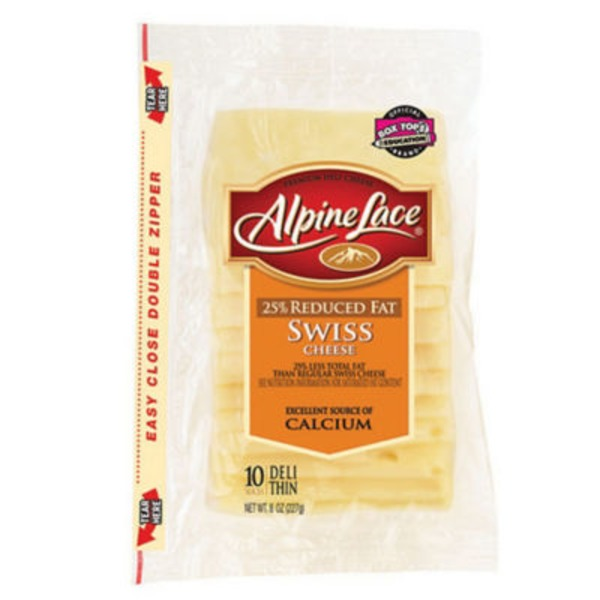 Alpine Lace® Reduced Fat Swiss Deli-Thin Slices Cheese