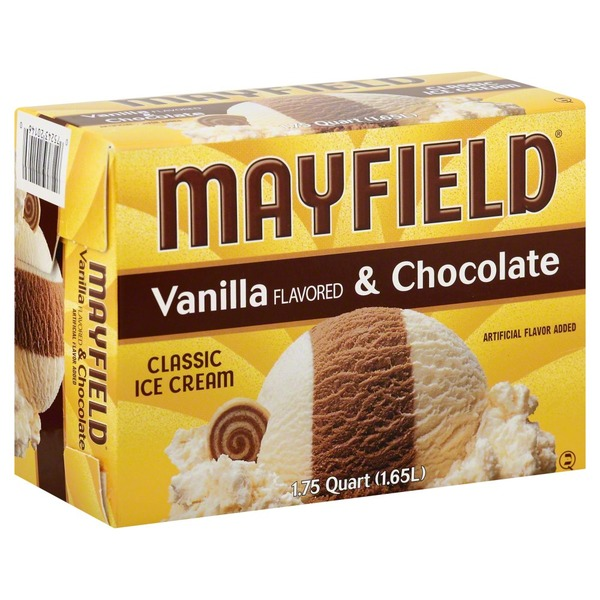 Mayfield Vanilla Flavored & Chocolate Classic Ice Cream