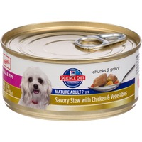 Hill's Science Diet Dog Food, Premium, Mature Adult, Small & Toy, Savory Stew with Chicken & Vegetables