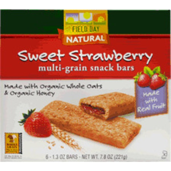 Field Day Organic Strawberry Filled Cereal Bars