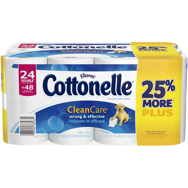 Kleenex Cottonelle Clean Care Double Rolls Toilet Paper