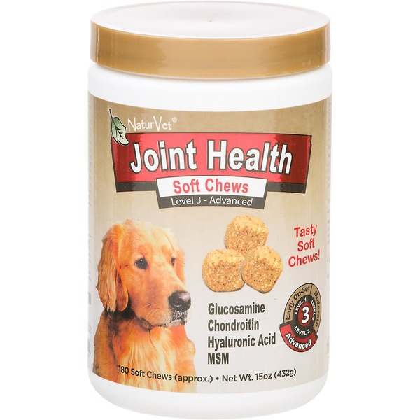 NaturVet Level 3 Advanced Care Joint Health Soft Chews For Dogs