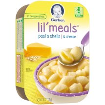 Gerber Lil' Meals, Pasta Shells and Cheese, 6 oz Tray